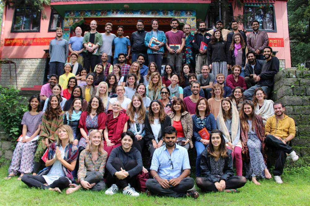 Group picture of Tushita retreat