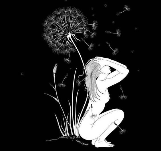 Femme pissenlit - Rita Renoir